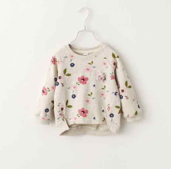 Kids Toddler Girls Clothes Tops Warm Hoodie Long Sleeve Floral Hoodie Coat Autumn Winter Casual New Clothes Girl 3-8Y