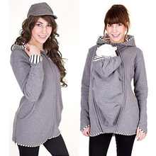 Jacket Maternity-Coats Winter Pregnant-Women Long for Outerwear Solid Bring Children