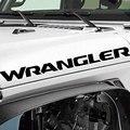 Виниловая наклейка на капот, наклейка с надписью, совместимая с Jeep Wrangler 2
