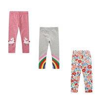 SAILEROAD – leggings 100% coton pour Fille et garçon, pantalon slim imprimé licorne, vente en gros, 3 pièces
