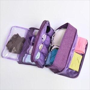 Image 2 - Organizador de ropa interior para sujetador, organizador de cajones, divisores de almacenamiento de viaje, caja, bolsa, calcetines, estuche de tela, ropa, armario, accesorios, suministros