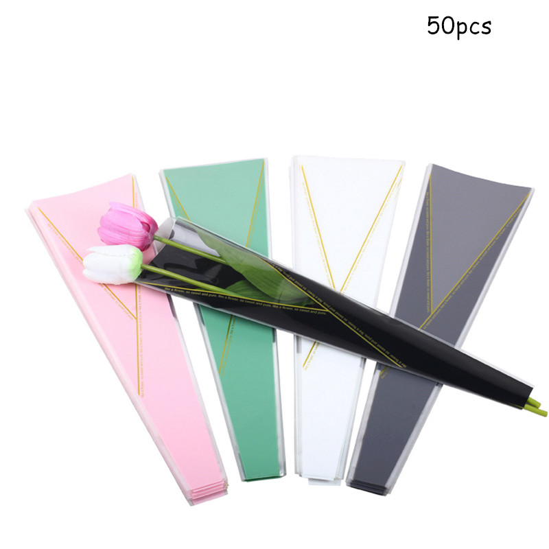 50pcs Thickened Rose Bag Single Flower Gift Bags  Craft Supplies