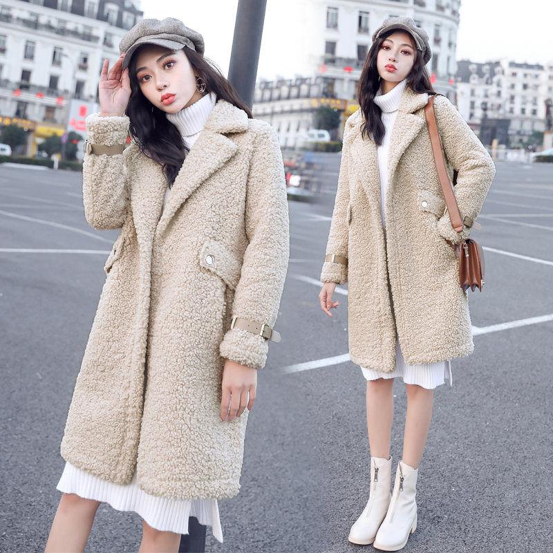 2019 Faux Fur Coat Women Casual Furry Thick Warm Long Faux Wool Fur Jacket  Slim Winter Coat Women Teddy Coat Casaco Feminino