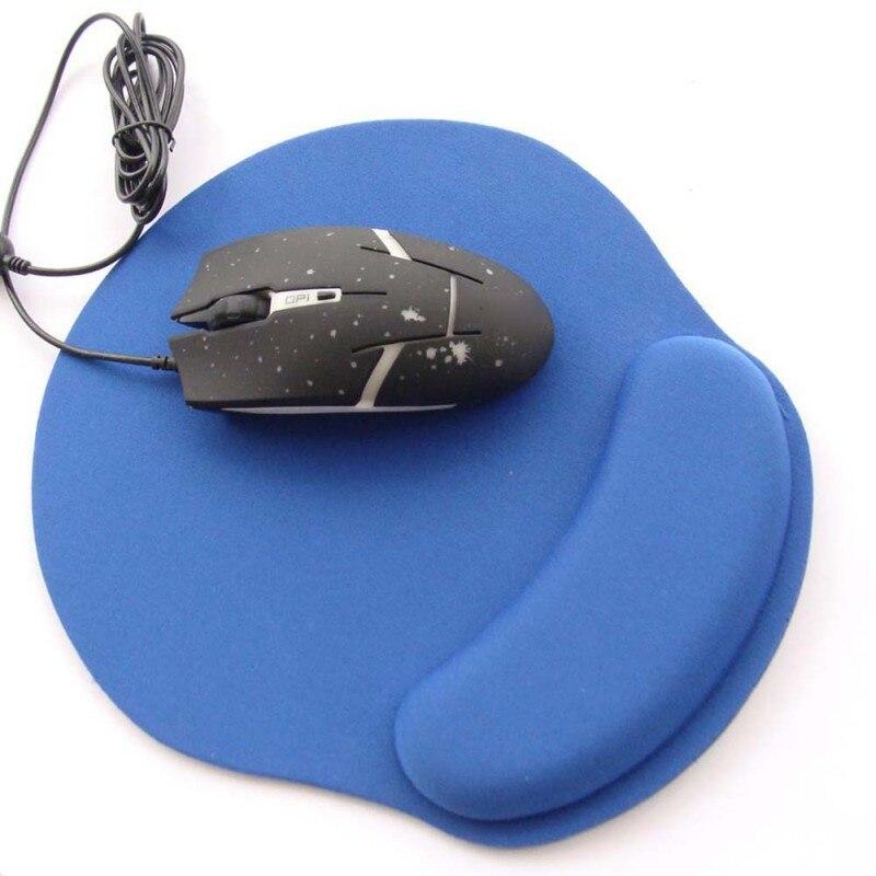 Tapis de souris de jeu et de bureau antidérapant tapis de souris de jeu tapis de souris de couleur solide pratique avec repose-poignet tapis de souris