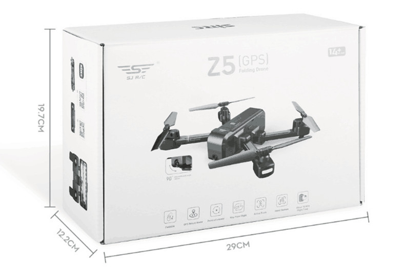 SJRC Z5 GPS RC Quadcopter Drone Helicopter With 2.4G 5G Wifi FPV 1080P Camera Altitude Hold Follow Me V f11 pro e58 29