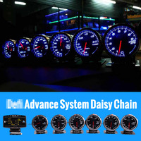 Defi Advance System Advance BF Daisy Chain Auto Gauge ZD+6 gauges Volt Water Temp Oil Temp Oil Press Tachometer RPM Turbo car