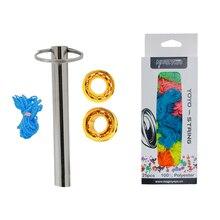 Magic yoyo 1 комплект 2 металлических шариковых подшипников yoyo 10+ съемник подшипников и 25 шт. полиэстер профессиональные йо-йо Струны для чувствительности