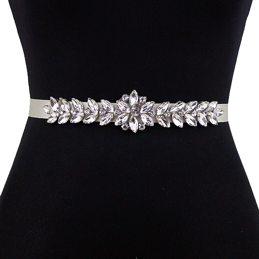 Bridal Wedding Dress Gown Beaded Jeweled Rhinestone Belt Sash