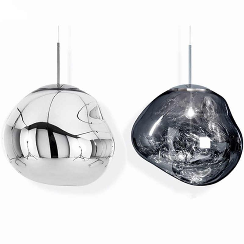 北欧溶融溶岩ランプポストモダン LED シャンデリアライト & 照明ガラスライト Hangin ランプ E27 光源電球ロフトシャンデリア