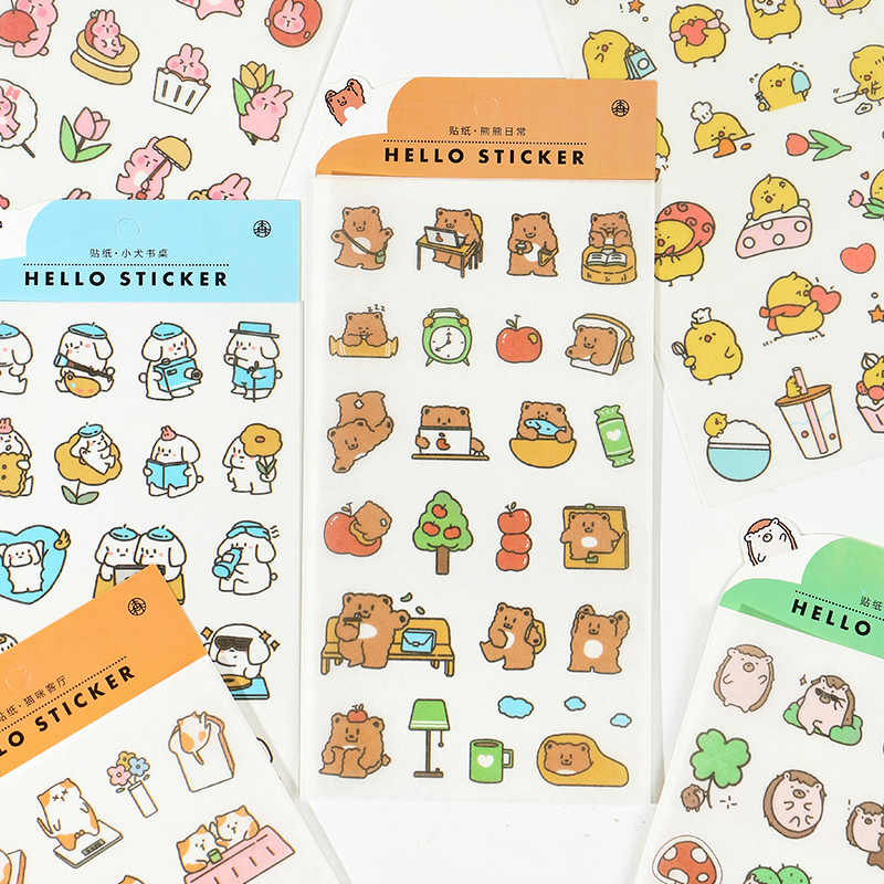 Japanese paper stickers Cute DIY Material Decorative Washi Stickers Scrapbooking Label Diary Stationery Album Stickers