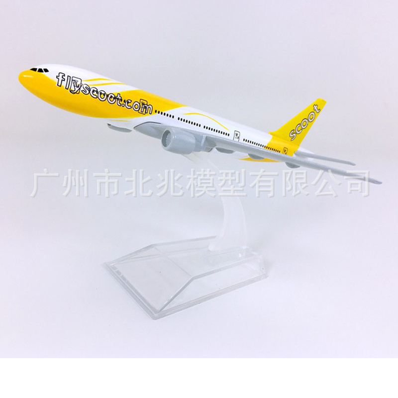 1/400 Scale Aircraft Boeing 777 Scoot Airways 16cm Alloy Plane B777 Model Toys Children Kids Gift for Collection image