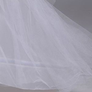 Image 2 - 3 שכבה חוט 2 חישוקי הכלה חתונה שמלת ארוך נגרר חצאית תחתונית אלסטי מותניים שרוך מתכוונן סליפ Fishtail חצאיות