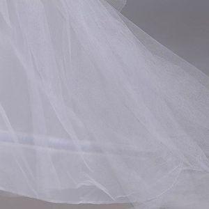 Image 2 - 3 layer Yarn 2 hoops Bride Wedding Dress Long Trailing Skirt Petticoat Elastic Waist Drawstring Adjustable Fishtail Slip Skirts
