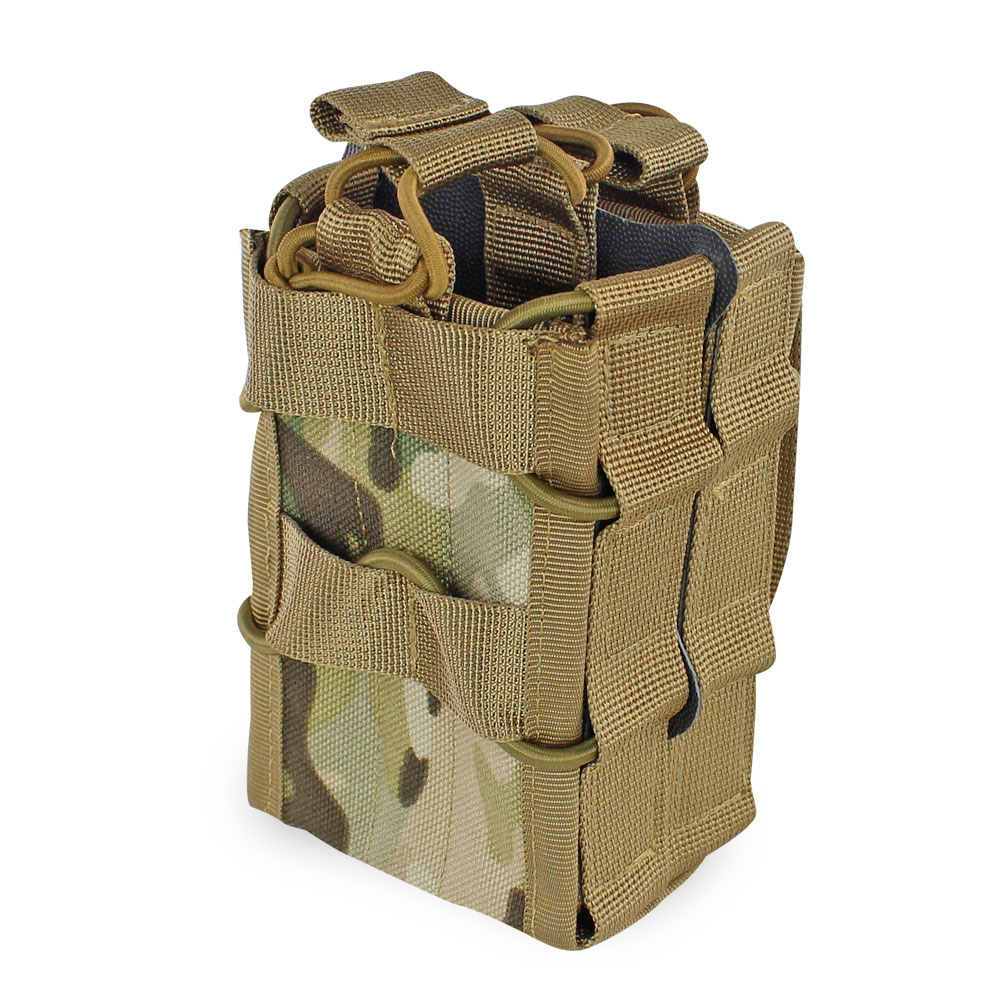 <font><b>Molle</b></font> System Magazine Pouch 1000D Nylon Double Layer Storage Bag Airsoft <font><b>Tactical</b></font> AK 7.62 M4 5.56 Rifle Hunting Accessories image