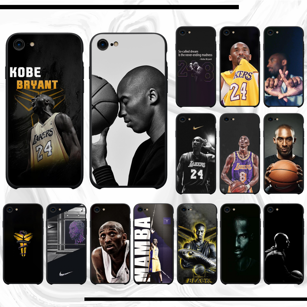 สำหรับ iPhone 6s เคส Player Kobe Bryant สำหรับ iPhone 11 PRO MAX x XS XR 7 8 PLUS 6 6s 5 5s 5SE