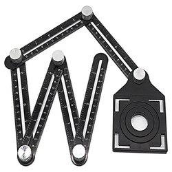 Прямая поставка из алюминиевого сплава четырехсторонняя Шестигранная линейка измерительный инструмент шаблон инструмент механизм слайды...