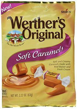 Werther's Original New Soft Caramels 2.22 Oz (63g) (6 Pack)