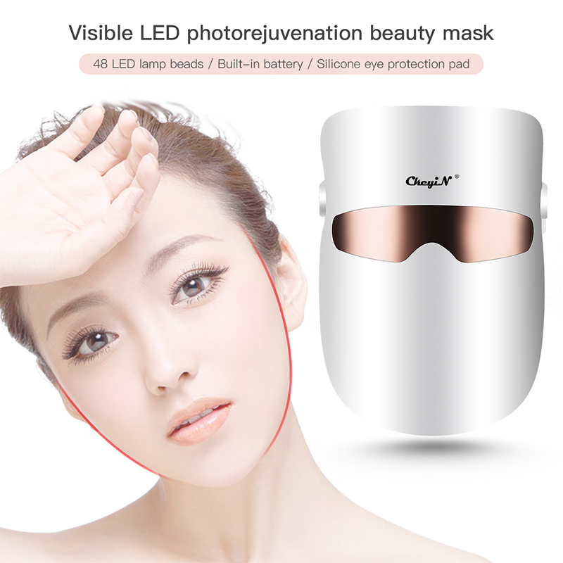 CkeyiN LED Mask Beauty Skin Care LED Face Mask Rechargeable Visiable Light Therapy Skin Rejuvenation Spa Toning Acne Treatment 5
