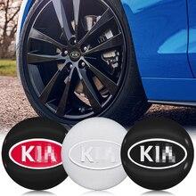 Sticker Center-Cover Wheel Ceed Forte Carnival Car-Parts Logo 56mm 4pcs Kia K2 K3 K5