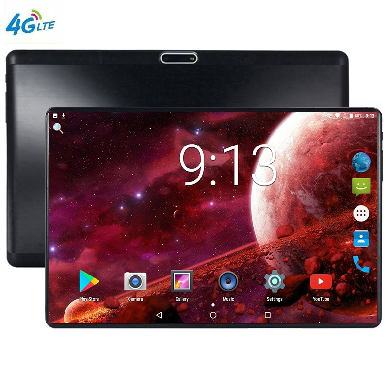 2020 Tablet Pc 10.1 Inch 10 Core Android 9.0 Google Play 3G 4G LTE Phone Call Tablets WiFi Bluetooth 2.5D Glass Screen 6G+128GB