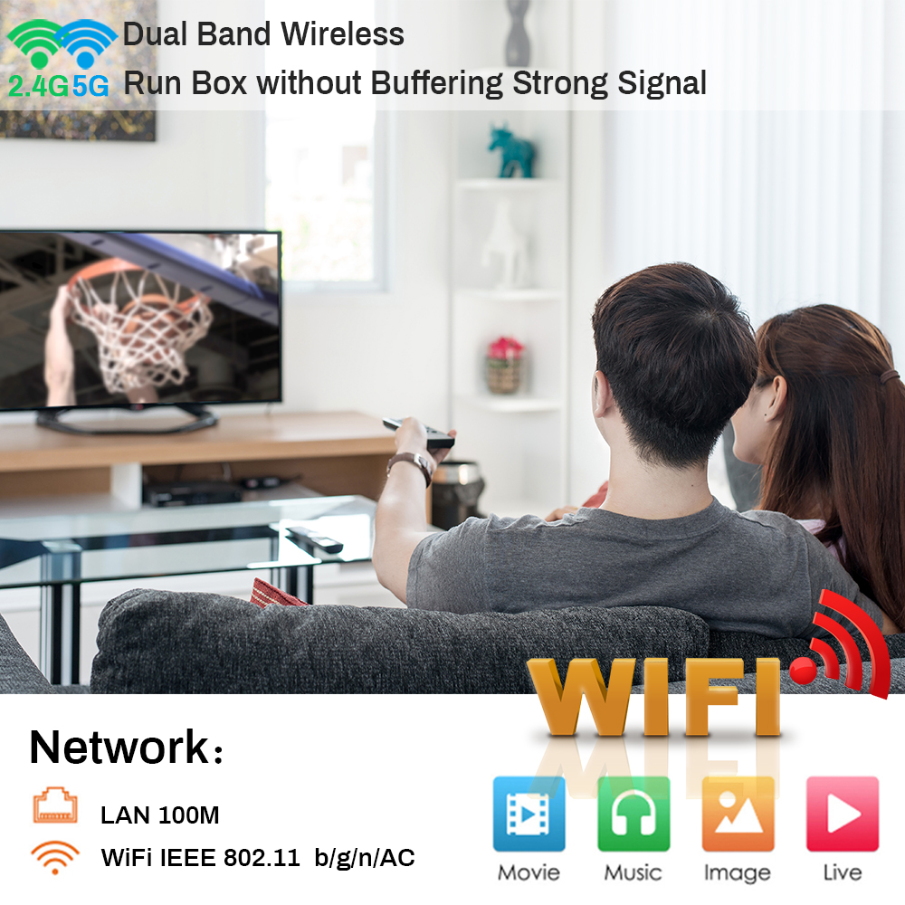 transpeed Android 10.0 Bluetooth TV Box Voice Assistant 6K 3D Wifi 2.4G&5.8G 4GB RAM 64G Media player Very Fast Box Top Box