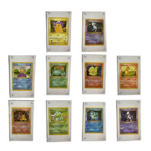 Mappe Pokemon Pikachu Charizard 10 Stks/set 1996 prima edizione Venusaur Squirtle Mewtwo No Game Collection Map incollato Bakstone