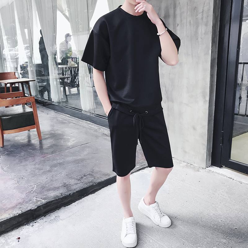 Jogger-Suits Tracksuit Tshirts Men's-Sets Shorts Men Male Casual Brand Workout-Fitness-Sets