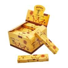 1 pacote pré-laminados cones em forma de papéis acessórios de fumo translúcido chifre clássico cigarro de papel natural fumar acessórios