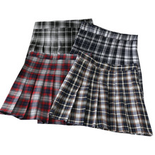 Sweet Women Pleated Skirt Summer Plaid A-Line Mini High Waist Ladies Skirts Fashion Lady Plaid Pleated Skirt Girls Short Skirts large size vintage wool cotton black and red plaid skirt women s winter autumn fashion gothic gothc short skirt a line pleated