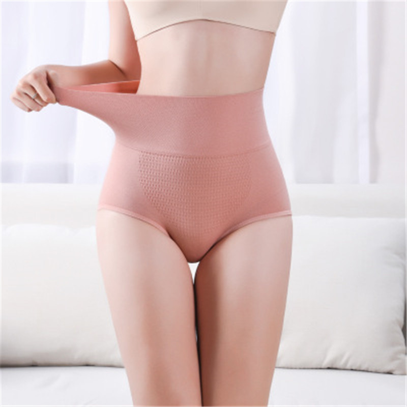 3D Honeycomb Panties Hip Raising Abdomen Warm Body Sculpting Seamless Anti-lightning Cotton Crotch High Waist Honeycomb Brief