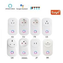 Snelle Verzending WIFI Smart Socket Plug EU UK US AU BR FR JP Israël Plug 10A Afstandsbediening Smart Work voor Alexa Google Home IFTTT