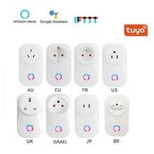Умная розетка с Wi Fi, быстрая доставка, ЕС, Великобритания, США, AU, BR, FR, JP, Израиль, 10A, пульт дистанционного управления, умная работа для Alexa, Google Home, IFTTT
