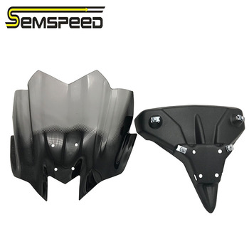 SEMSPEED 2PC Motorcycle CB650F Windshield Windscreen Wind Shield Cover Protector For Honda CB 650F 2014-2019 2015 2016 2017 2018