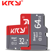Карта памяти KRY, 32 ГБ, 16 ГБ, 8 ГБ, 128 ГБ, 64 ГБ, Microsd карта C10, Micro TF, SD карта, 8, 16, 32, 64, 128 ГБ, адаптер Cartao De Memoria Carte(China)