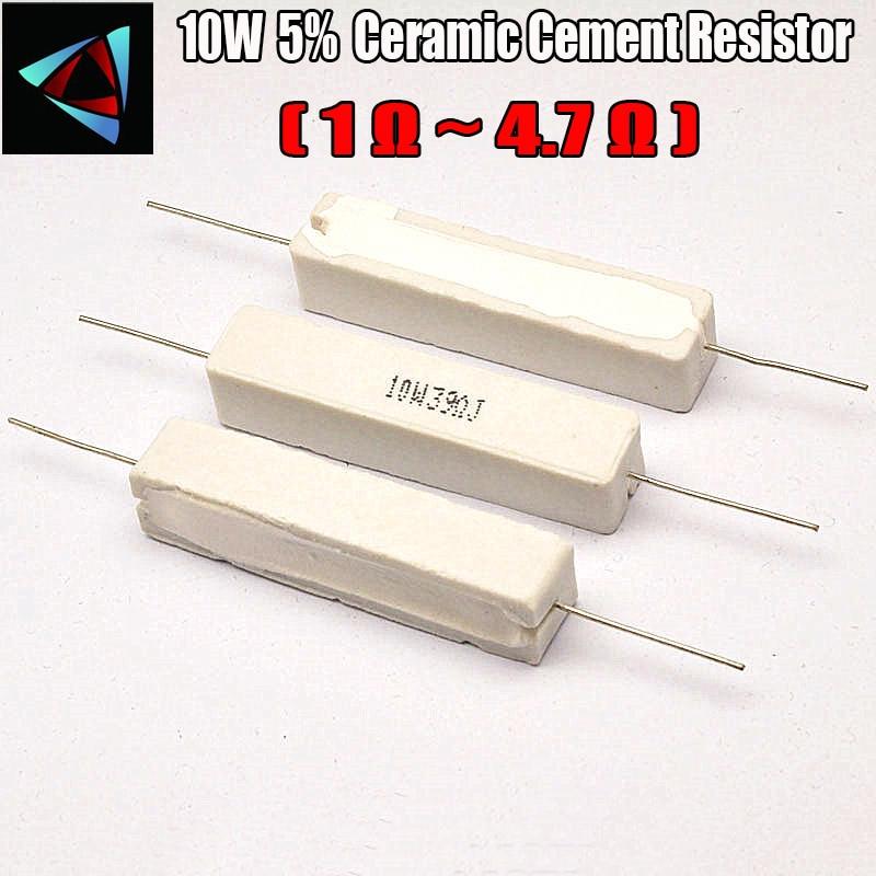 10W 5% 1 2 2.2 3 4.7 Ohm R Ceramic Cement Resistor / Resistance Passive Component