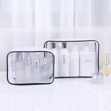 New PVC Transparent Cosmetic Bag Travel Organizer Portable Cosmetics Washing Storage Box Large Capacity Makeup