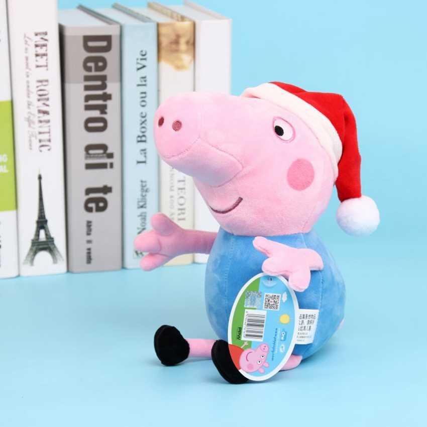 30 centímetros Peppa George Família do Porco Natal Dress up Plush Brinquedos Super Hero Cosplay Pirata Porcos Bonitos Macios Bonecos De Pelúcia para o Presente Dos Miúdos