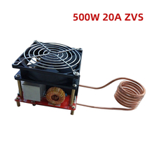 500W 20A ZVS Induction Heating Board Flyback Driver Heater DIY Cooker+ ignition Coil zvs tesla coil flyback driver sgtc marx generator jacob s ladder 12 30v dc red