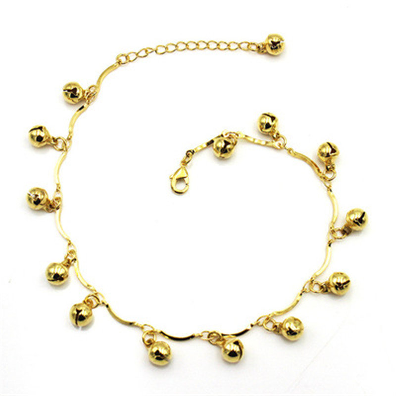 Bohemian Gold Bell Anklets for Women Charm Leg Bracelet Fashion Jewellery for Female Ankle Bracelet Cheville Femme