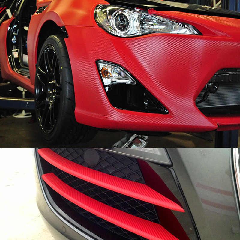 สีดำสีแดงสีขาวคาร์บอนไฟเบอร์ไวนิลรถ Wrap Foil Air Release Self กาวมอเตอร์ไซด์สกู๊ตเตอร์เรือรถสติกเกอร์ห่อ