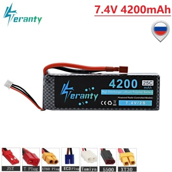 HIGH POWER MAX 50C 7.4V 4200mAh LiPo Battery for RC Airplane Helicopter Car Boat 2S 4200mah 7.4V Lithium Battery With T/XT60/JST 1 pcs lion power lipo battery 2s 7 4v 1500mah 25c max 35c fast charging rc lipo battery for rc boat helicopter