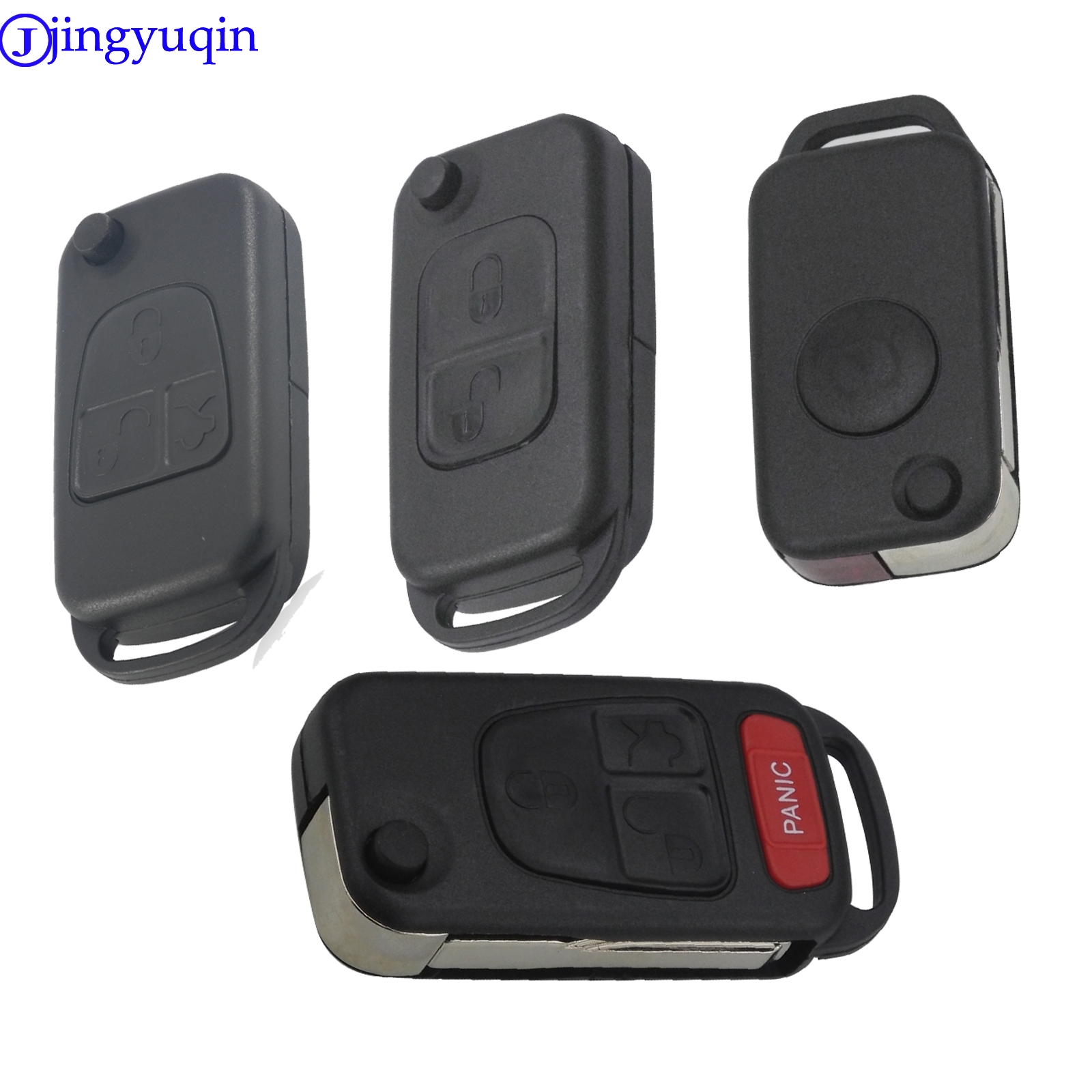 10pcs Flip Folding Replacement Remote Car <font><b>Key</b></font> Shell For <font><b>Mercedes</b></font> For Benz W168 W124 W202 <font><b>W203</b></font> A C E ML C CL S SL SEL SLK E113 image