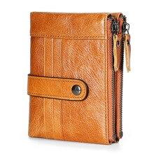 2019 Genuine Leather Rfid Man Leisure Small Mens Wallet Men Wallets Women Purse Purses Handbag