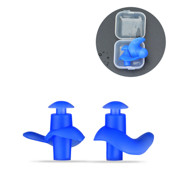 1 Pair Soft Ear Plugs Environmental Silicone Waterproof Dust-Proof Earplugs Diving Water Sports Swimming Accessories #ED image
