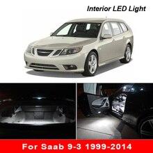 인테리어 LED Saab 9 3 1999 2014 Canbus 차량 전구 실내 돔 맵 독서 트렁크 라이트 오류 없음 자동 램프 부품