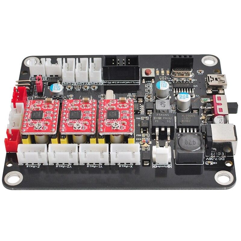 Contrôleur de CNC 3 axes Grbl contrôle Double axe Y carte de contrôleur de carte de pilote Usb pour 3018 1610 2418 gravure de CNC