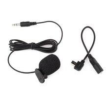 Stereo mikrofon 3.5mm mikrofon adaptörü klip harici mikrofon Gopro Hero3/3 +/4