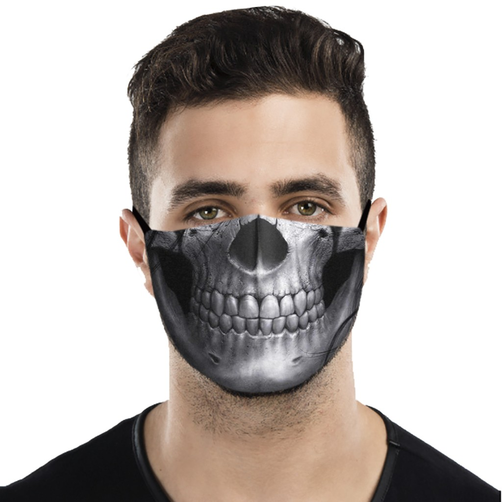 Mouth Mask Unisex Halloween Masks Fashion 3d Print Gothic Punk Face Cover Masks Mascarillas Reutilizables Lavables|Women