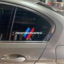 2 шт. окна автомобиля светоотражающие наклейки для BMW E36 E39 E46 E60 E61 E64 E70 E71 E85 E87 E90 E83 F10 F20 м Мощность производительность логотип