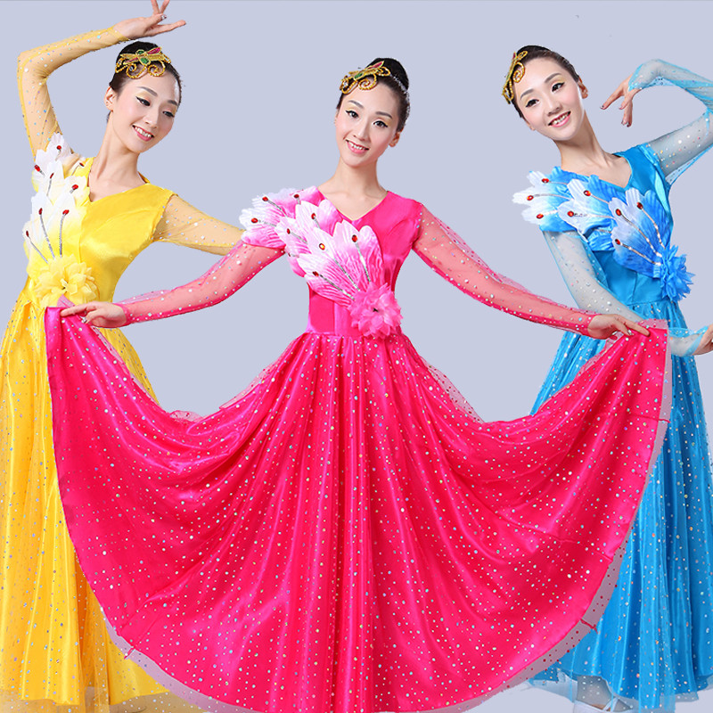 2021 Opening Dance Dress Women Flamenco Dress Extoic Dance Wears Ballroom Dance Clothes Stage Outfit Paso Doble Dress